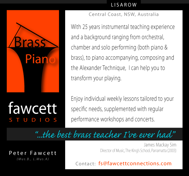 Piano Lessons and Brass Lessons in Lisarow, NSW, Australia